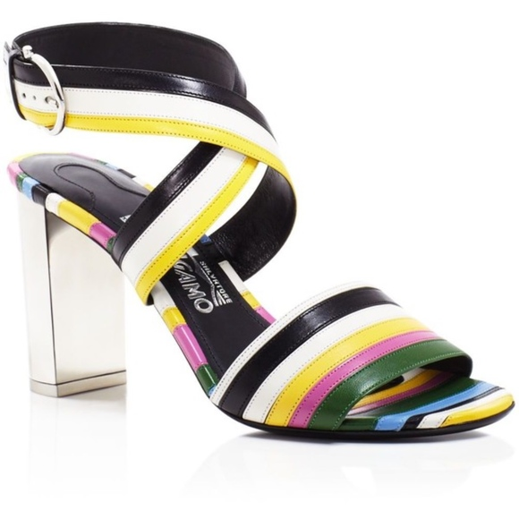207ac9e752d9 Salvatore Ferragamo Striped Sandal